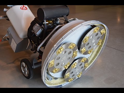 How To Use Lavina 30g X Concrete Floor Grinder Youtube