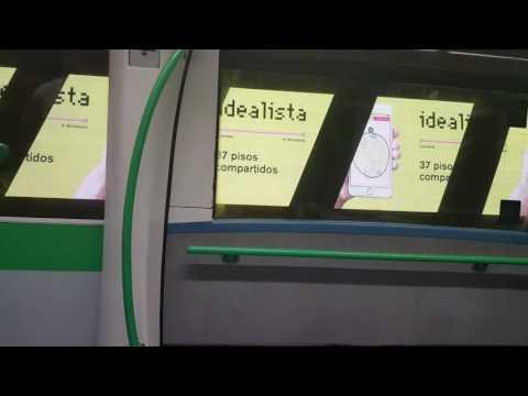 Metro de Madrid - Publicidad en los túneles de la L8 entre Colombia y Nuevos Ministerios