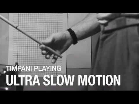 Slow Motion of Timpani Technique | Percussion Research
