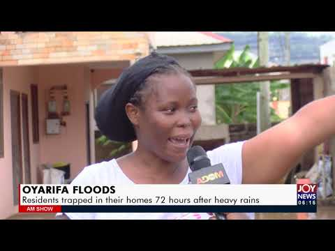 Residents trapped in their homes 72 hours after heavy rains   AM News on Joy News (11-10-21)