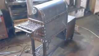 коптильня мангал паровоз из листового металла