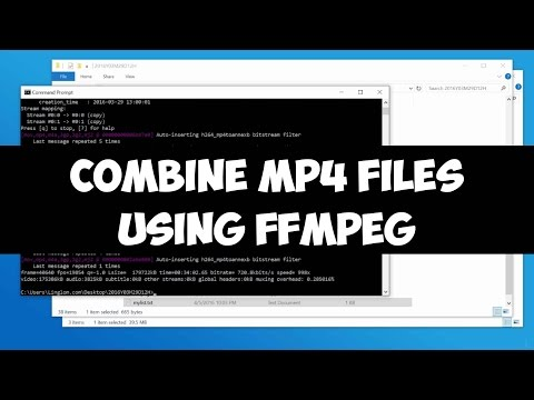Combine MP4 files using FFMPEG on Windows (without re-encoding)