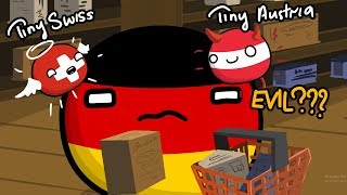 Plus (Switzerland) and Minus (Austria) - Countryballs - 検索動画 26