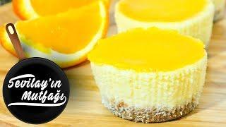 Portakallı Cheesecake Nasıl Yapılır? | Portakallı Porsiyonluk Cheesecake Tarifi