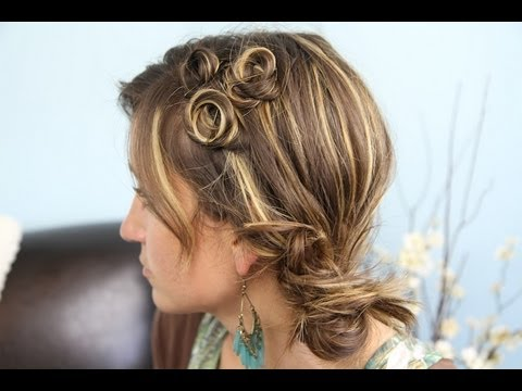 Pin Curl Coil Accents Back To School Cute Girls Hairstyles