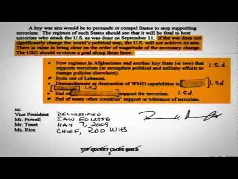 "Leaked Top Secret Memo Reveals U.S. Gov's Premeditated ""Regime-Change"" Policy in Middle East"