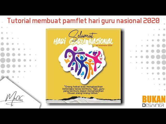 [Tutorial pixellab] cara membuat pamflet hari guru nasional 2020