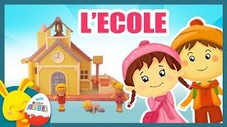 L'école - Histoire de jouets Polly pocket pour les enfants - Titounis -Touni Toys