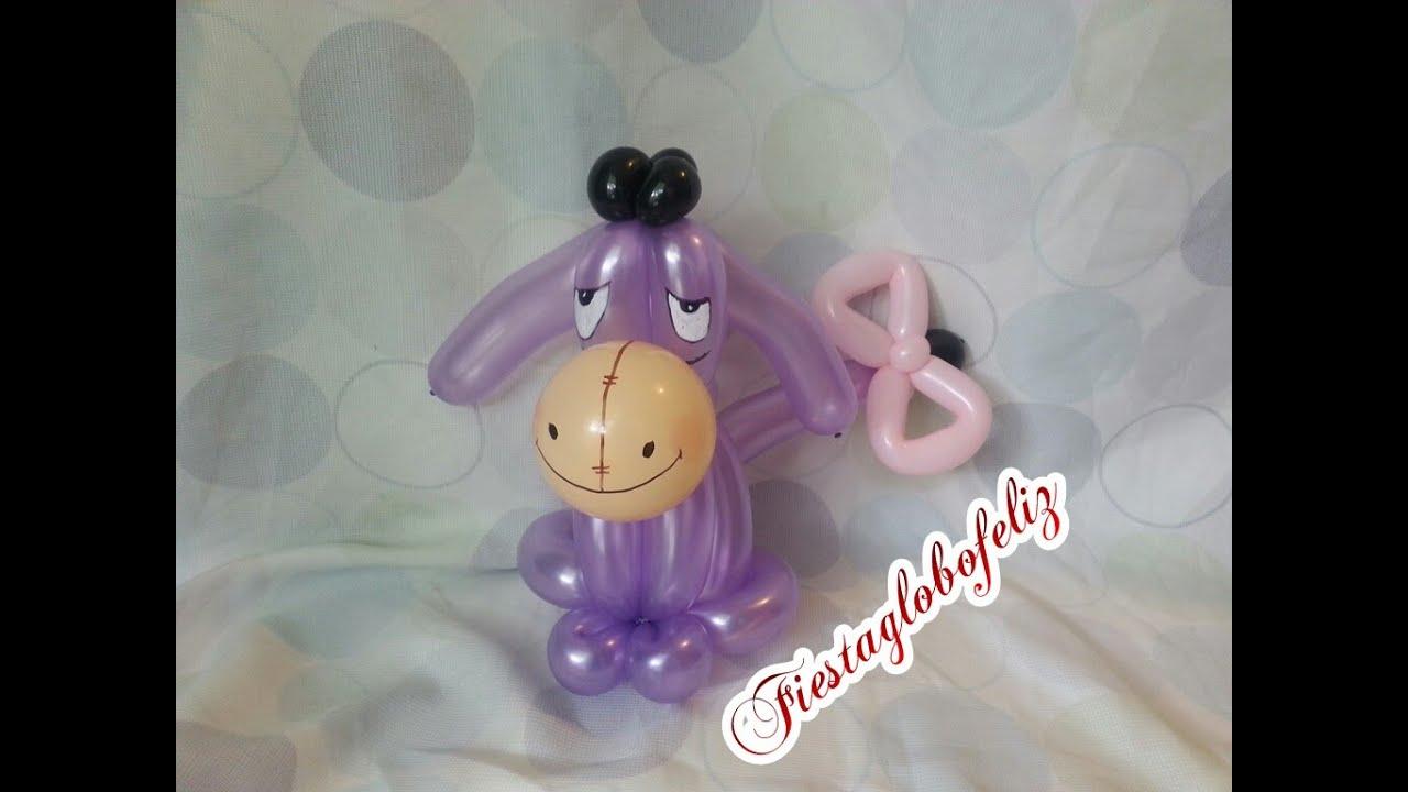 Como hacer a igor o triste el amigo de winnie pooh con - Como hacer figuras con globos ...