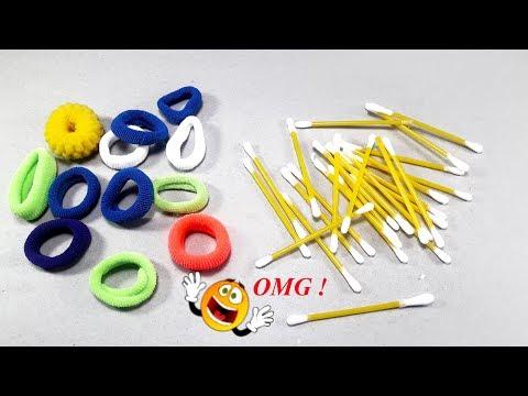 DIY Hair rubber bands craft idea | DIY art and craft | DIY HOME DECO