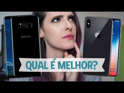 SAMSUNG S8 VS IPHONE X! QUAL É MELHOR? - Karen Bachini