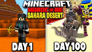 I Survived 100 Days of Hardcore Minecraft in the Sahara Desert.. Here's What Happened..