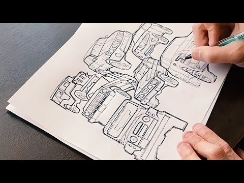Nissan designer Ken Lee shows off his #drawdrawdraw skills