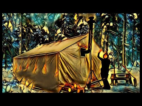 Canvas Tent With a Wood Stove- Alone In The Wilderness!