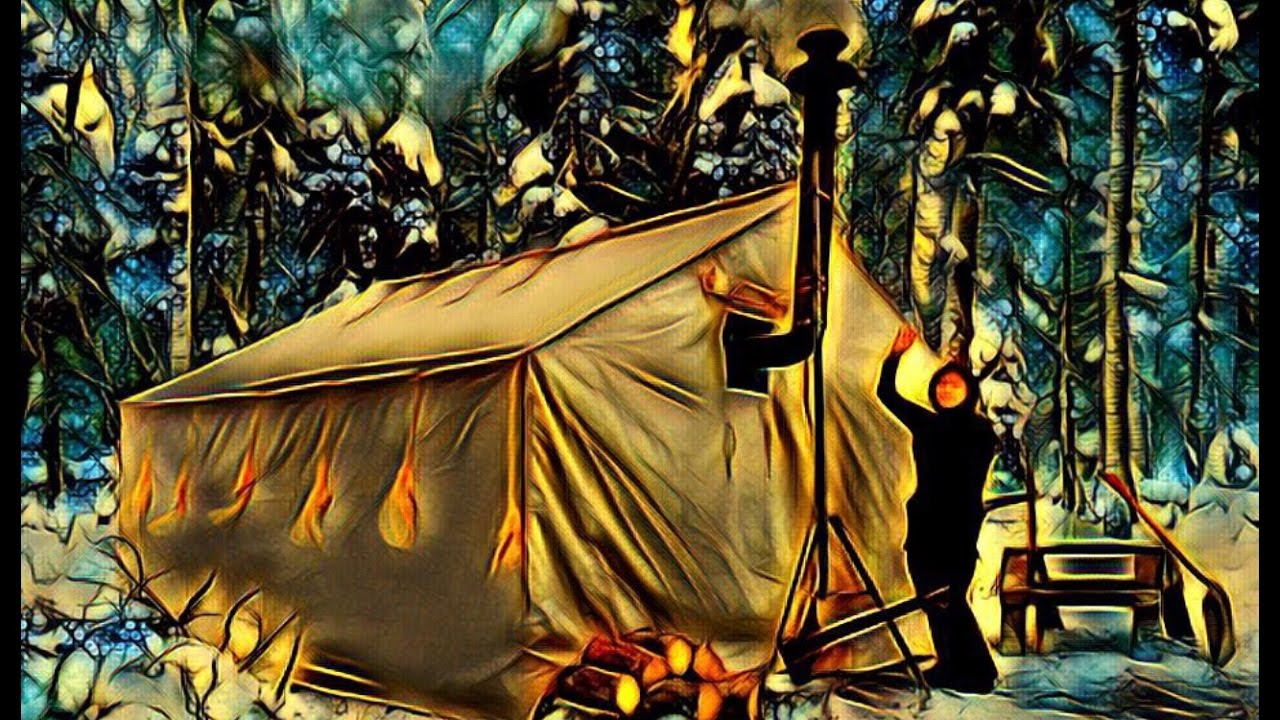 Canvas Tent With a Wood Stove- Alone In The Wilderness! & Canvas Tent With a Wood Stove- Alone In The Wilderness! - YouTube