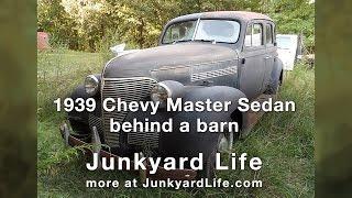 1939 Chevrolet Master Sedan survivor behind a barn