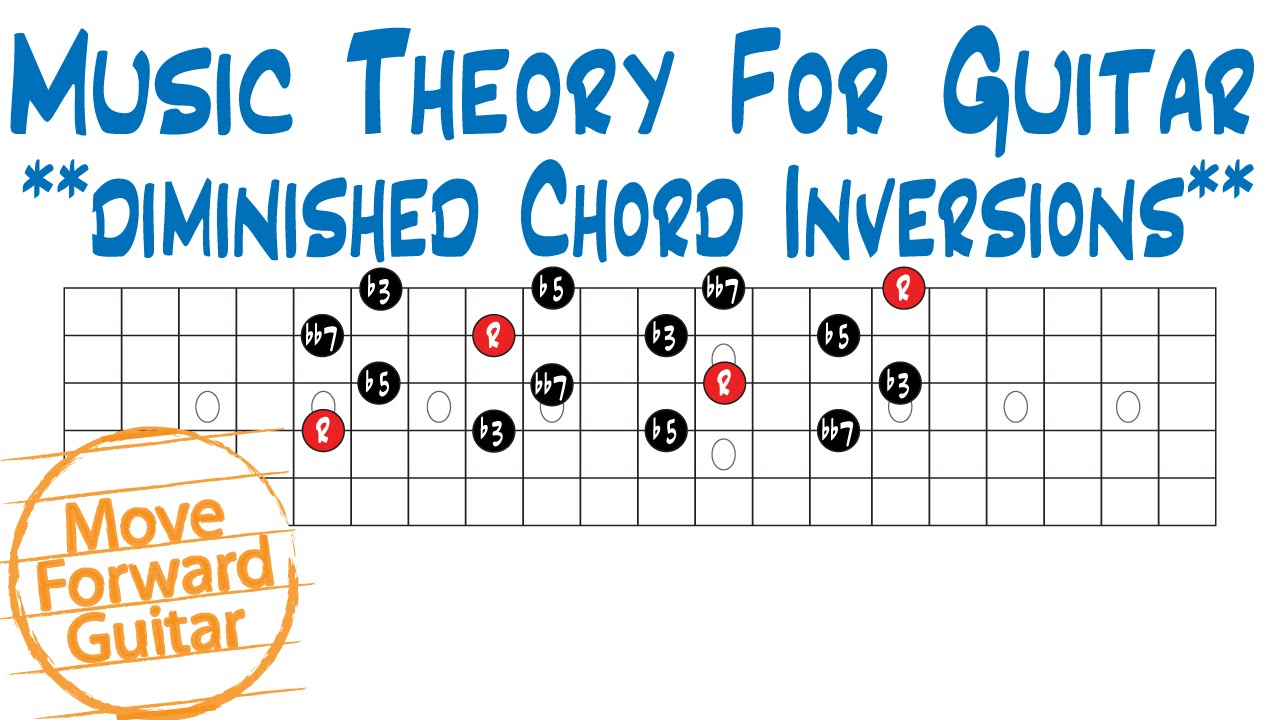 Music Theory For Guitar Diminished 7th Chord Inversions Youtube
