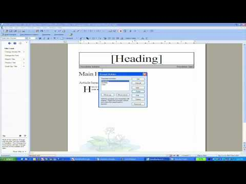 Working with WordPerfect Templates