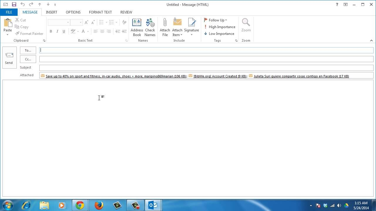 How to Forward Multiple Email Messages to a Single Recipient in Outlook 2013