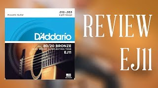 D'Addario 80/20 Bronze Light Gauge EJ11 (12-53) | REVIEW