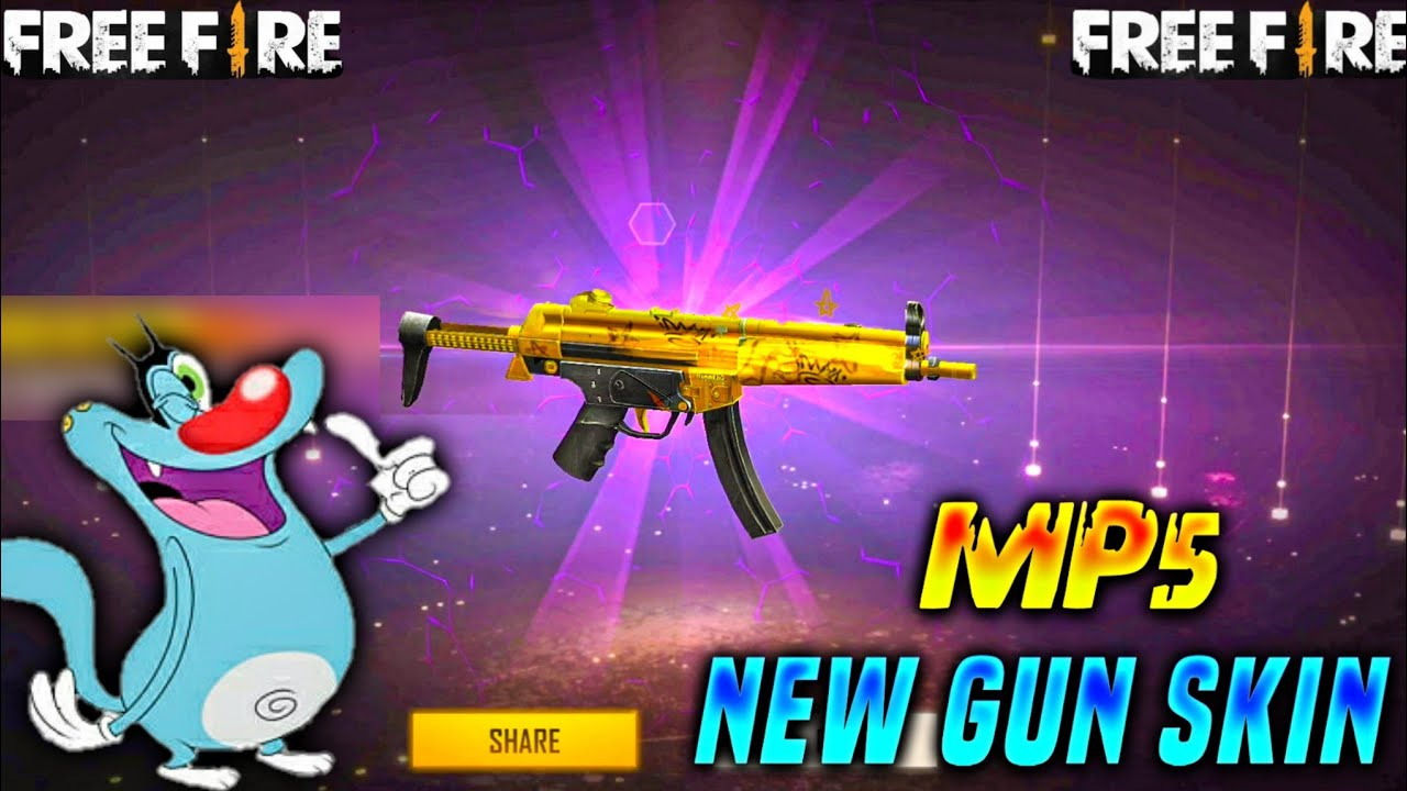 Free fire New MP5 Gun Skin In Weapon Royal | Freefire New Weapon Royal | Oggy freefire | Triple slot