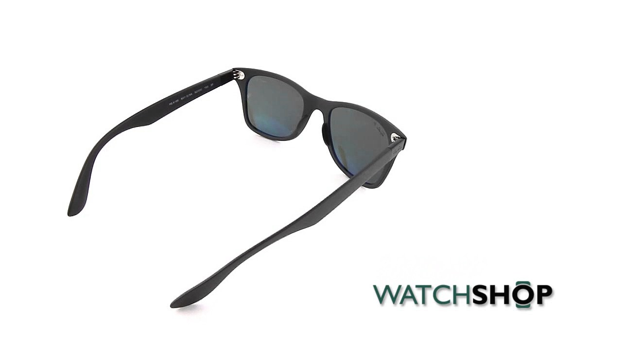 ac1c296deda Ray-Ban Men s Wayfarer Liteforce Sunglasses (RB4195-601S9A-52) - YouTube