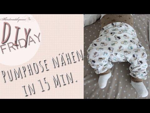 Nähanleitung für Anfänger //Pumphose für Babys/Kleinkind in 15 ...