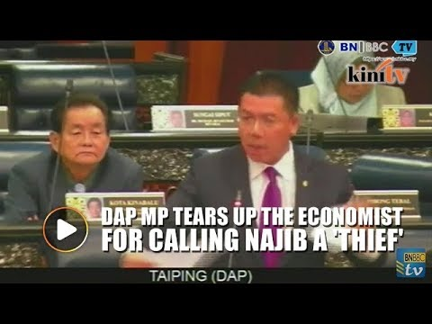DAP MP Tears Up 'The Economist' Over Article Calling Najib A 'thief'
