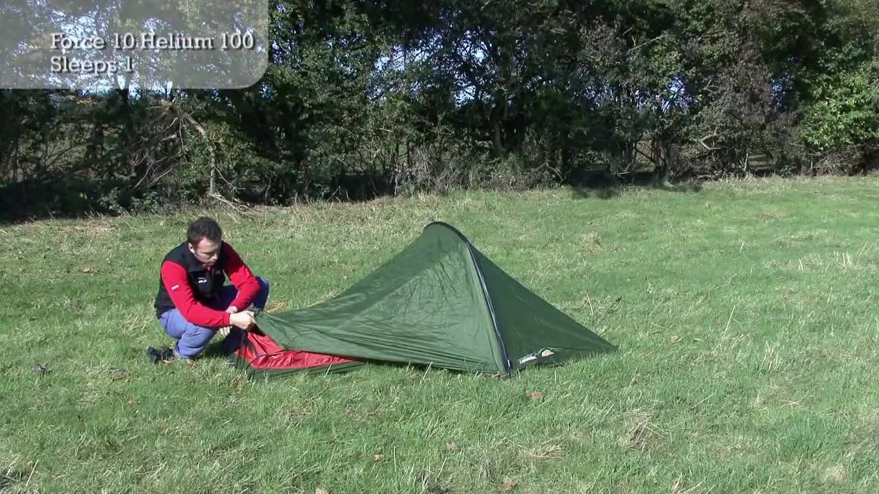 & Force 10 Helium 100 - Tent Pitching Video - YouTube