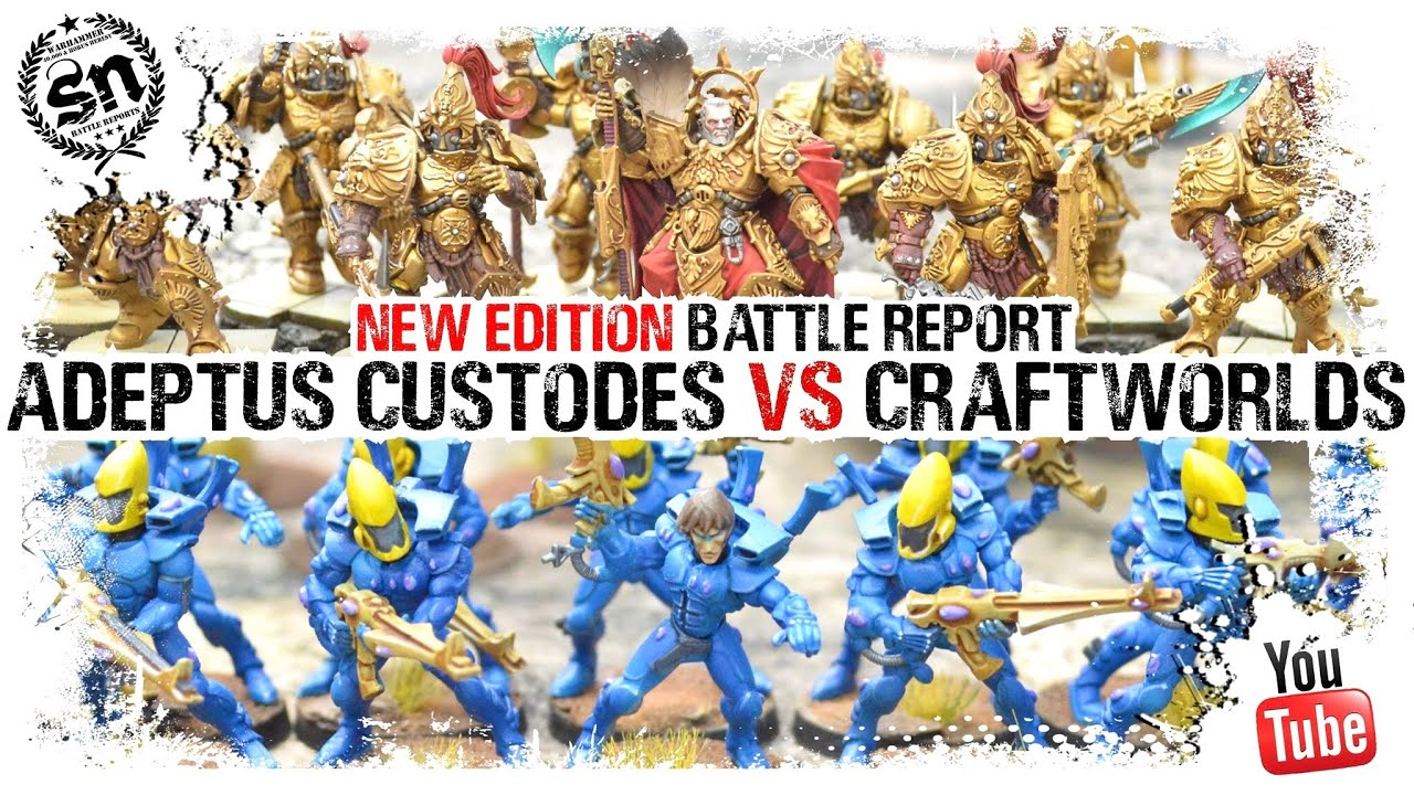 *9TH EDITION* Adeptus Custodes vs Craftworlds - Warhammer 40k Battle Report