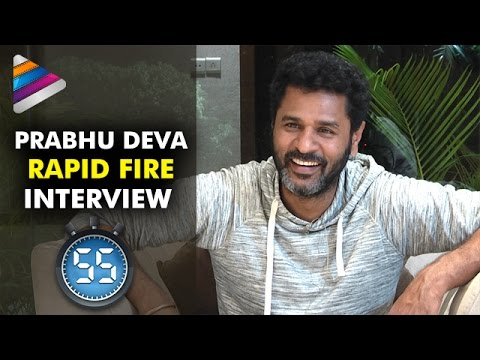 Prabhu Deva Reveals his Personal Life Secrets | Rapid Fire Interview | Abhinetri | Telugu Filmnagar