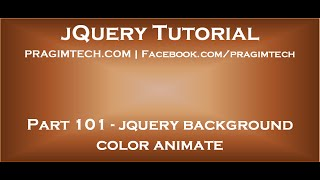 jQuery Background Color Animate