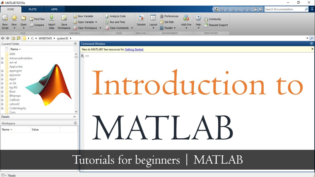 Download Introduction to MATLAB for beginners   How to use MATLAB   MATLAB Tutorial for beginners   Mruduraj