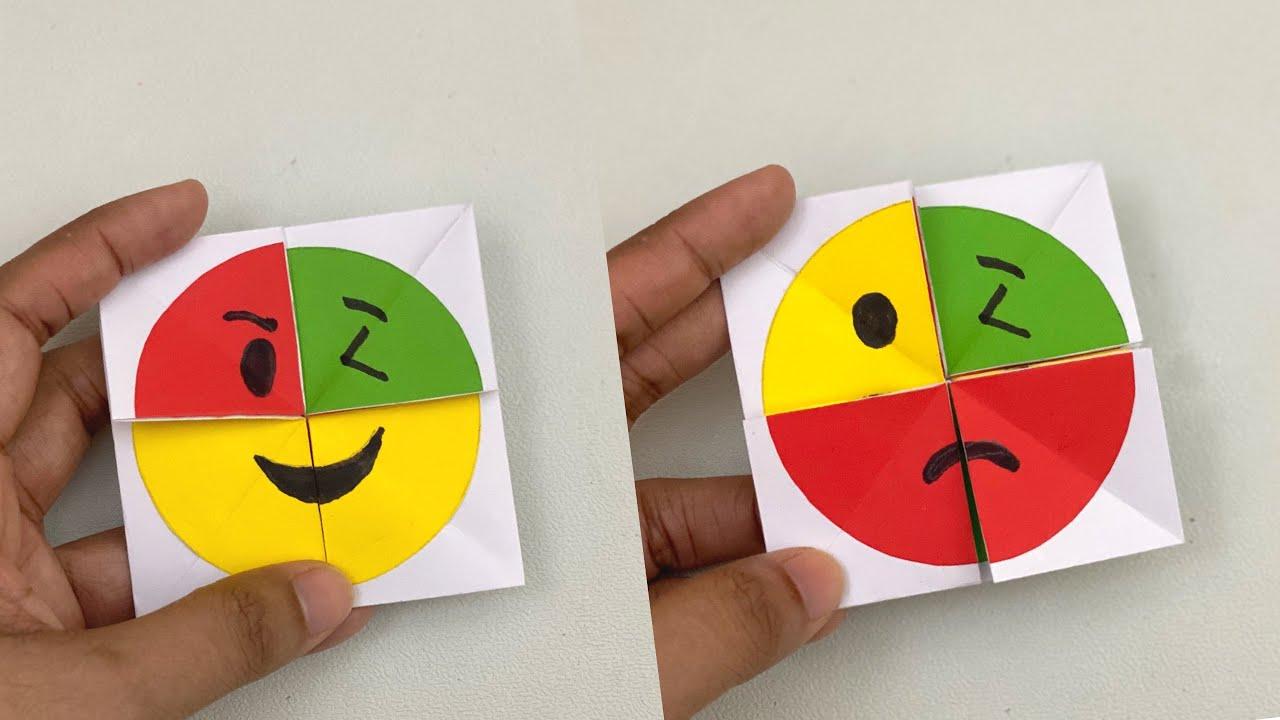 how to make paper emoji magic card for kids  nursery