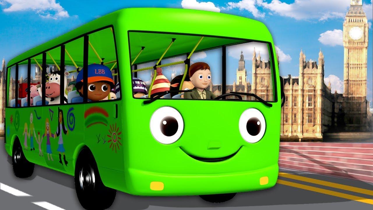 De Wielen Van De Bus Gaan Rond En Rond De Wielen Van De Bus
