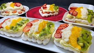 RIQUISIMO merengón de frutas - MERENGON de frutas para negocio - rosita cocina