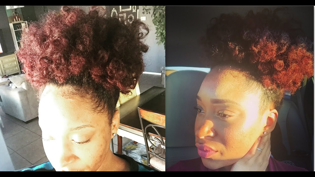 Perfect Red For Natural Hair Without Bleaching Tutorial Youtube