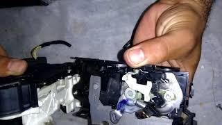 Troca do motor de trava da fechadura do jetta