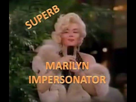 Superb Female Impersonator Jimmy James As Marilyn - Singing LIVE!