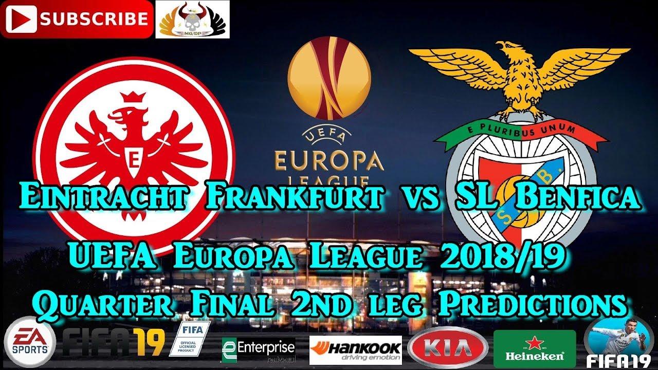 Eintracht Frankfurt vs  SL Benfica   UEFA Europa League 2018-19 Quarter  Final Predictions FIFA 19