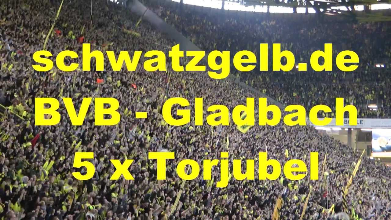 Dortmund - Gladbach 5 x Torjubel Stimmung Südtribüne Borussia BVB 5-0