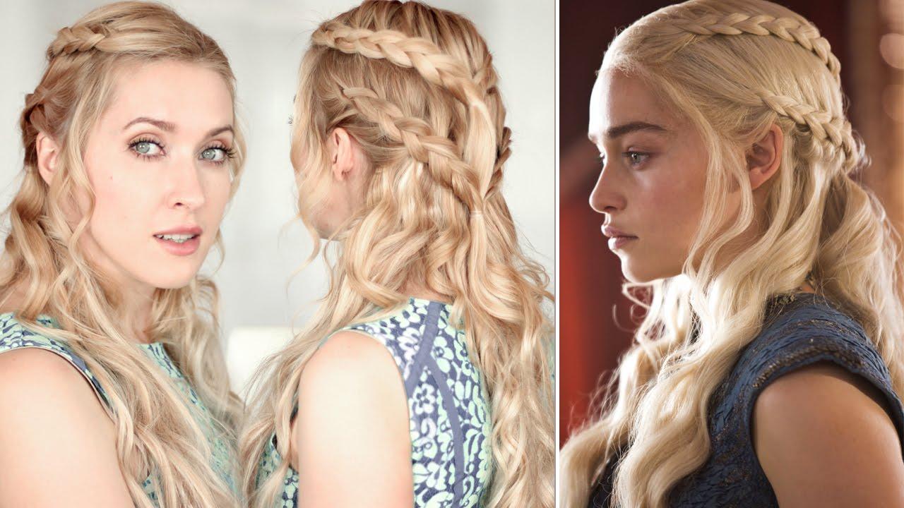 game of thrones hair tutorial: khaleesi/daenerys braid hairstyle