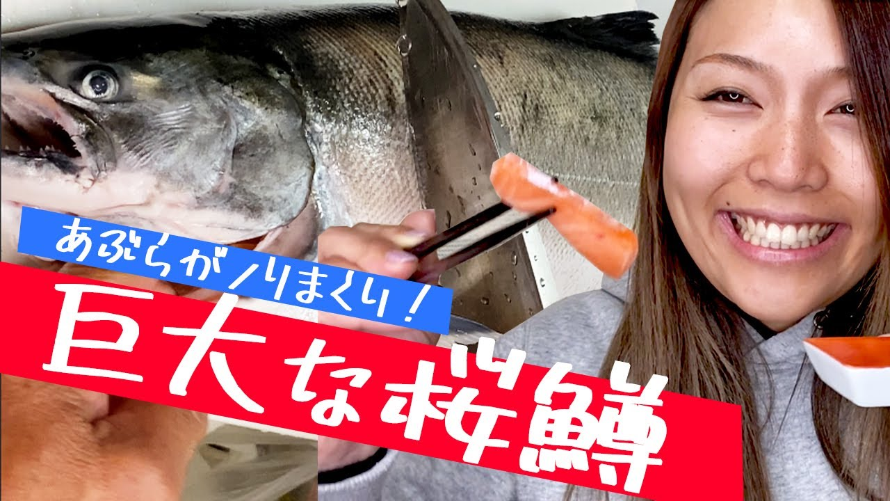 【釣りガール】巨大な桜鱒が美味しすぎて舌がとろけた日曜日VLOG