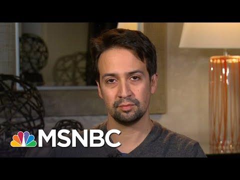 Lin-Manuel Miranda Speaks Out For Puerto Rico Hurricane Relief | AM Joy | MSNBC