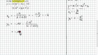 10II.1   Umformen Von Allgemeine Form In Scheitelform (Formel)  Play_circle_filled