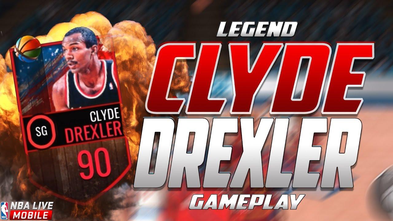 90 OVR CLYDE DREXLER l FADE KING l NBA Live Mobile Gameplay