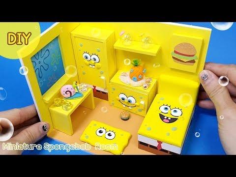 [Diy Spongebob Room] 노랑덕후 모여라!! 네모바지 스폰지방 만들기!! 네모네모 스폰지밥~