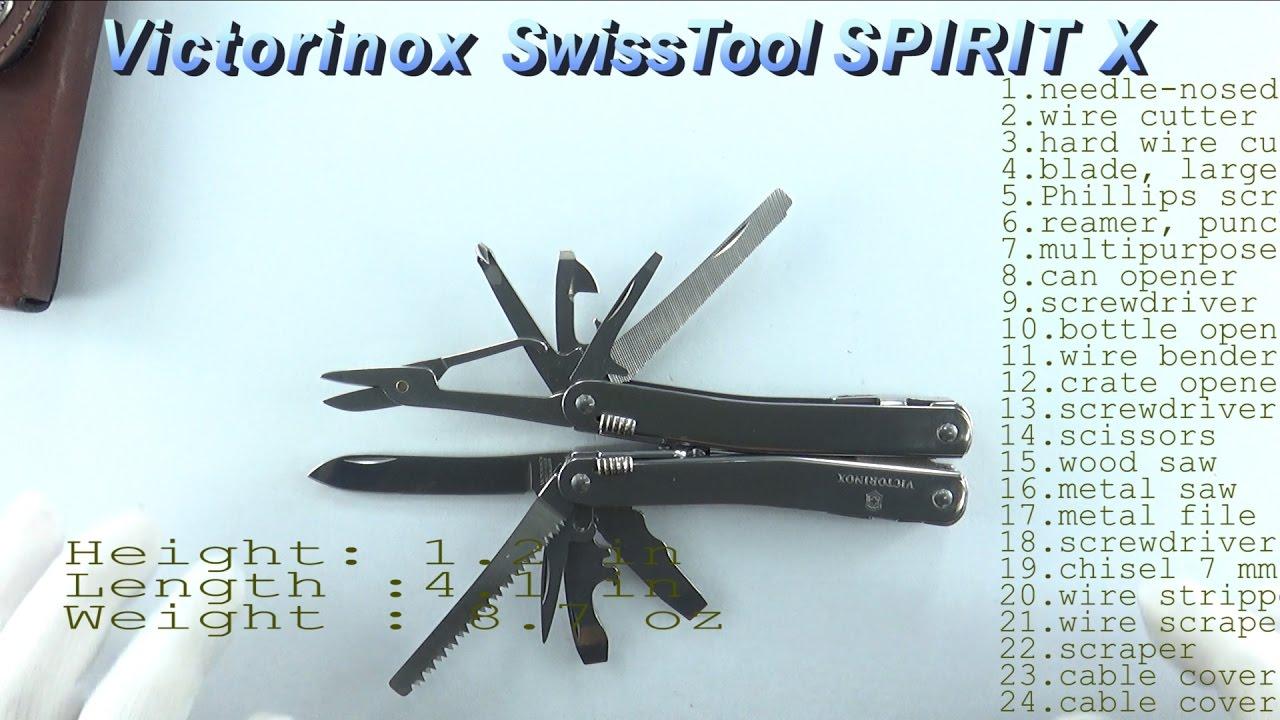 Швейцарский складной нож Victorinox Swisstool Spirit 3.0238.L .