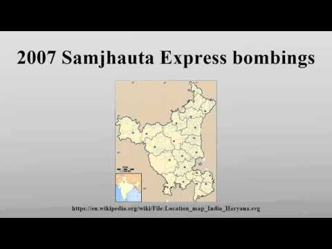 2007 Samjhauta Express bombings