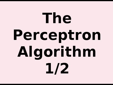 How the Perceptron Algorithm Works 1/2